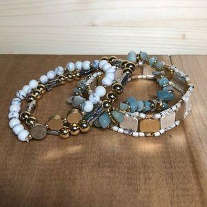 Berry Jewelry Stretch Beaded Bracelet Set